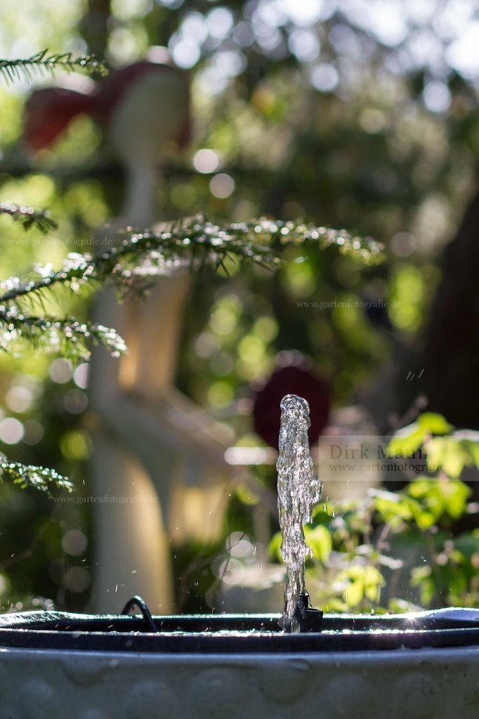 Bild: Springbrunnen als Wasserspiel